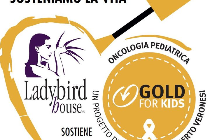 Ladybird house al Cosmoprof sostiene Gold for Kids