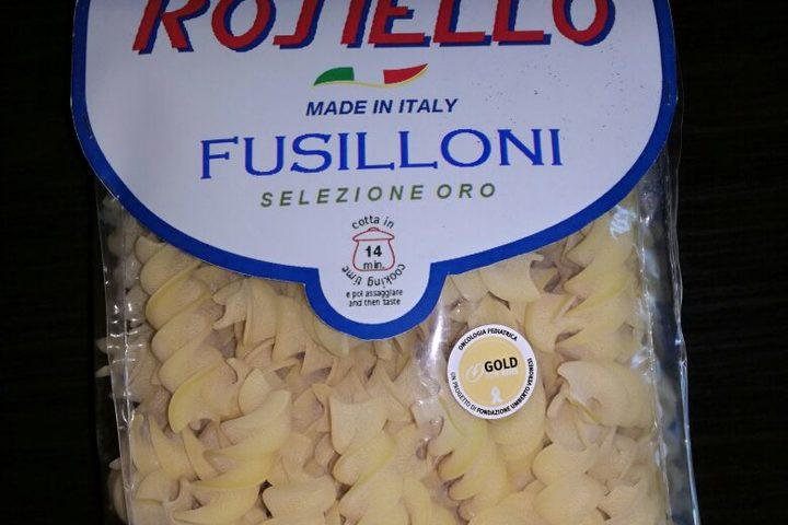Pasta Rosiello, un nuovo alleato per Gold for Kids