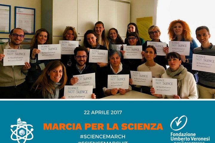 I ricercatori della Fondazione Umberto Veronesi in marcia per difendere la scienza