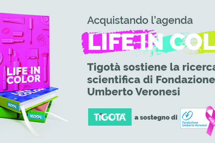 Da Tigotà l'agenda «Life in Color» per sostenere la ricerca scientifica