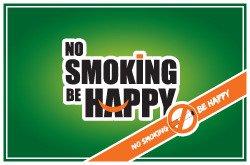 No smoking be happy!